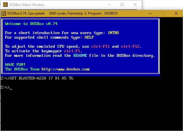 DOSBox Prompt - Step 5