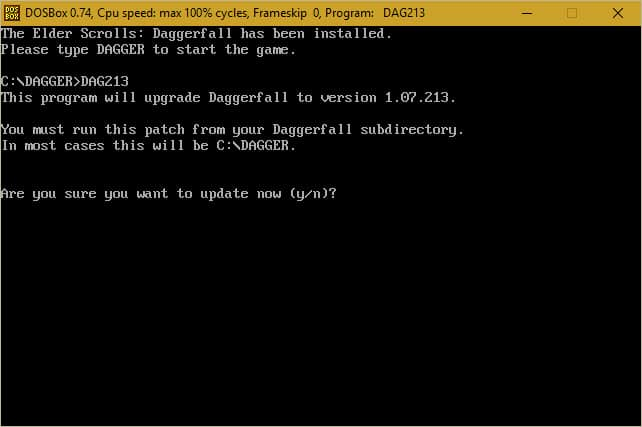 Updating Daggerfall - Step 9a