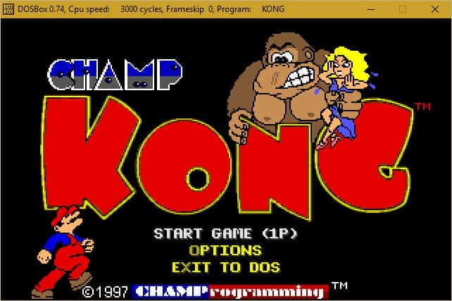 How to Install and Play CHAMP Kong in DOSBox - AllGamesAtoZ com