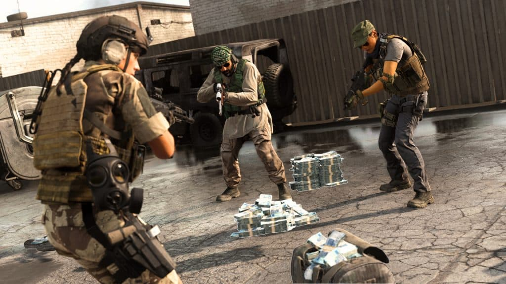 Cash pickup in Call of Duty Warzone